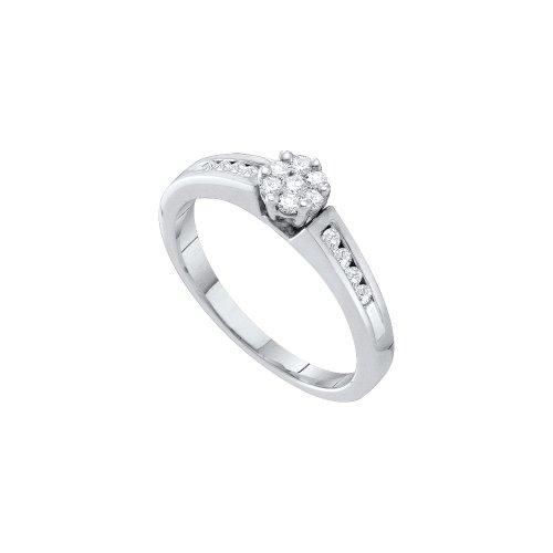 1/4 Total Carat Weight DIAMOND FLOWER RING by Jawa Fashion