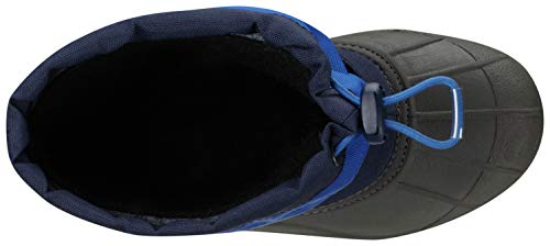 Columbia Youth Powderbug Plus Winter Boot , Collegiate Navy/Chili, 7 M US Big Kid