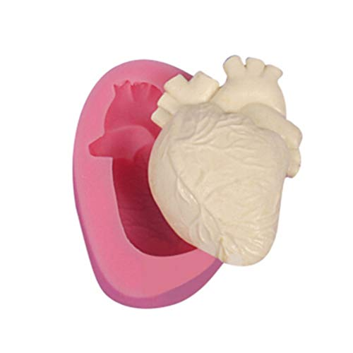 2PCS Halloween Heart Mold Silicone Candy Making Mold 3D Soap Molds Horro Dcoration Tools