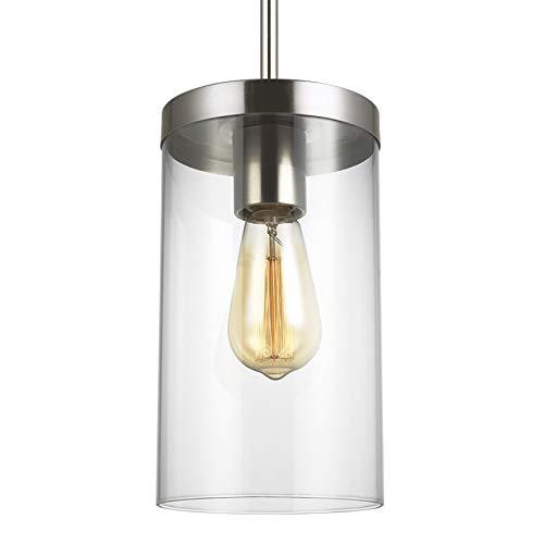 (Sea Gull 6590301-962 Zire Pendant, 1-Light 60 Watts, Brushed Nickel)