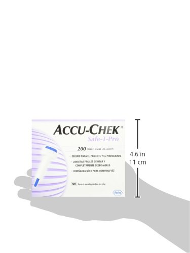 Accu Chek Safe-T Pro+ Blood Lancets, 200 Count