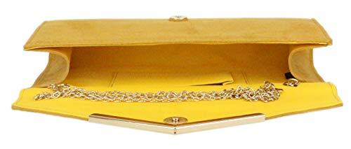 Femme Girly Pochette Handbags Moutarde Pour x8wRZq0n