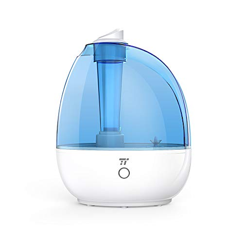 TaoTronics Humidifiers, Cool Mist Humidifier for Bedroom Baby Room, Small & Space-Saving, Whisper Quiet, BPA Free, Waterless Auto Shutoff – 2L/0.5Gallon, US 110V [Upgraded Version]