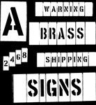 Brass Interlocking Stencils (CH Hanson Series 311) 3'' Number Set