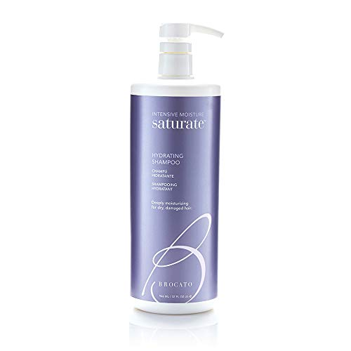 Brocato Saturate Daily Hair Shampoo: Intensive Moisture Hydrating Shampoo for Dry, Damaged Hair - Moisturizing Formula Safe for Color Treated Hair - Contains No Sulfate or Parabens - 32 Oz (Brocato Saturate Moisture Shampoo)