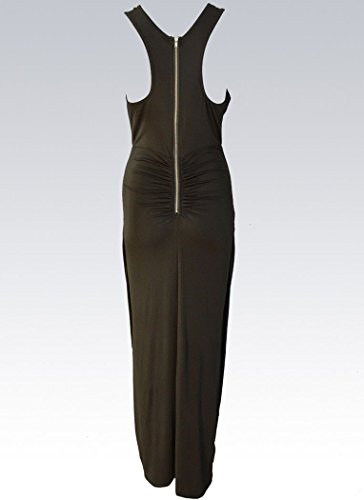 Green Knotted Style Slit Front Army Oops Dress Cocktail Women's xI6wqdP8