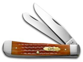 Case Cutlery Trapper 11901 Pinched Bolster Whiskey Bone 6254 SS
