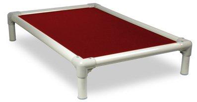Burgundy XL 44x27 Burgundy XL 44x27 Kuranda Almond PVC Chewproof Dog Bed XL (44x27) Cordura Burgundy