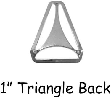 """Hardware Nickle Plated 25 Triangle Back Slide Adjuster 1.25/"""" Suspender Clips"""