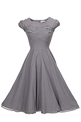 Vienna Summer Women's Romantic Modest Swing Vintage Party Dress