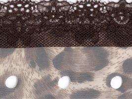 Circulo Tecido Rendado Trico Ruffling Scarf Yarn Color 2803 Cheetah with Brown Lace