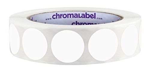 ChromaLabel 1 inch Color-Code Dot Labels | 1,000/Roll (White)