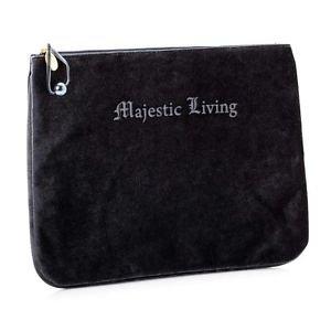 COSMETIC BAG Majestic Living black velvet (Small)
