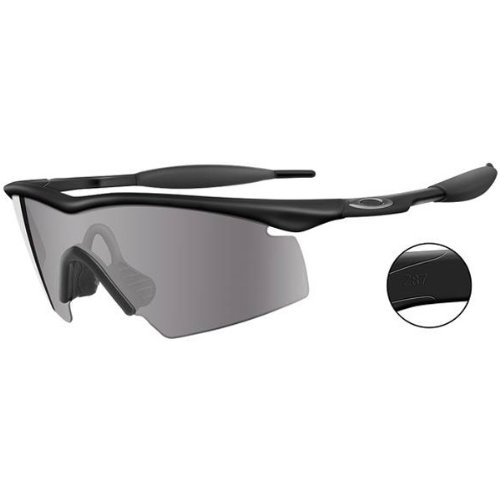 Oakley M Frame Industrial Men's Sport Designer Sunglasses/Eyewear - Black/Grey / One Size Fits - Frame M Oakley Sunglasses