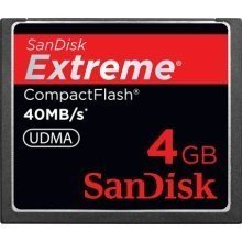 SanDisk SanDisk Extreme CompactFlash 4 GB Memory Card 40MB/s SDCFX-004G-X46