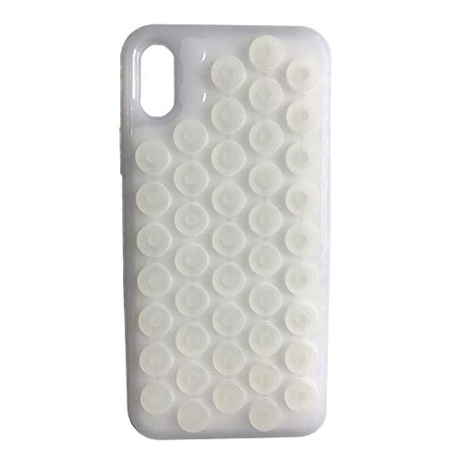 iphone X Case,Funny Cute Pop Sound Popping Decompression Bubble Wrap Hybrid Silicone Puchi Puchi Hard Case Cover for Apple iphone X (White) - Hybrid Case Hard