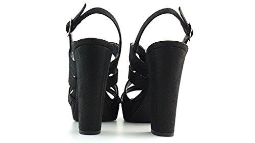 JO-EL Joel - Sandalias de Vestir Para Mujer Vintage nero