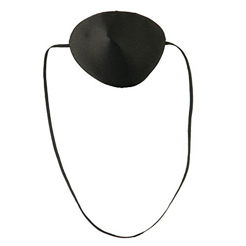 Silk Pirate Eye Patch - Black OSFM]()