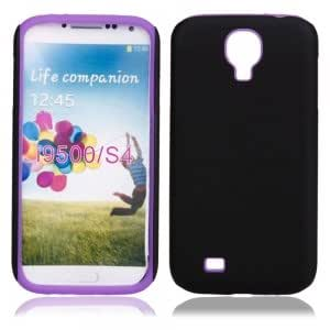 Frosted Silicone Case for Samsung i9500 Purple