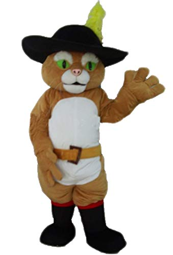 Adult Size Puss in The Boots Mascot Costume for Party Cartoon Character Costumes for Stage Programme ()