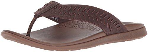 Chaco Mens Leather Flip Sandals - Chaco Men's Jackson Flip-Flop, Java, 9 Medium US