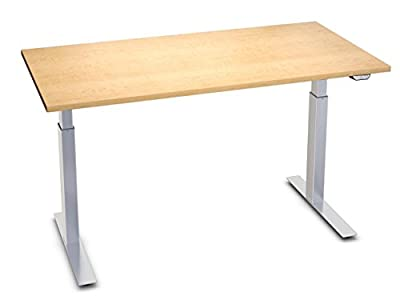 "UpDownDesks ESSENTIAL Standing Desk – Electric Height Adjustable Sit-Stand Computer Desk (30"" x 60"")"