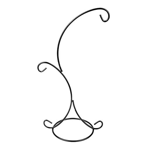 (Tubwair Ornament Display Stand Holder Hook Hanger Easels 2 Arms Glass Bauble Ball Dog Cat Glass Photo Personalized Christmas Xmas Easter Home Party Craft DIY Art Decorations)