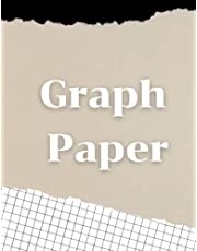 Graph Paper Notebook: Black Quad Ruled Grid Paper 1cm squares per inch   Large 8.5 X 11 in   120 pages