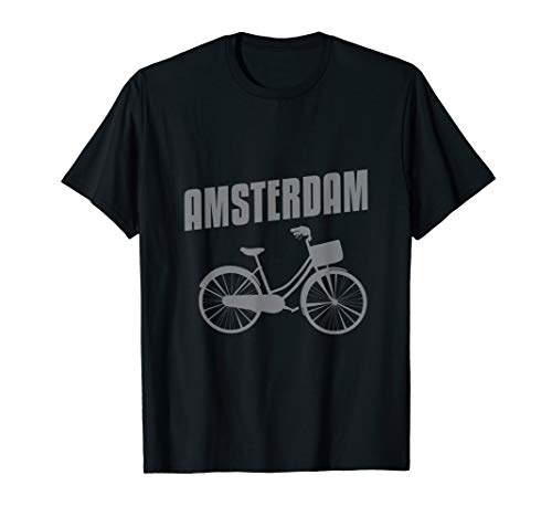 Amsterdam Bicycle T-Shirt Cycling Tee Shirt Netherlands
