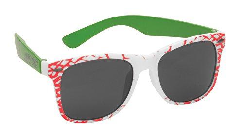 SANTA CRUZ SUNGLASSES Keith Meek Slasher White/Green - Sunglasses Cruz Santa
