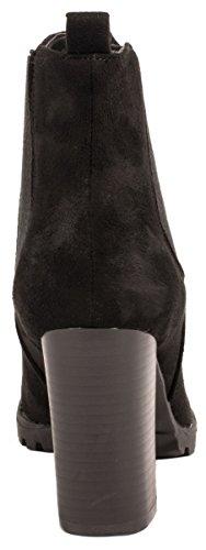 Chunkyr Mujer Plateau Moderna Tacón Schwarz Boots Elara Botines Berlin Block Ankle Ayan AqR8fg