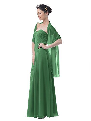 Alicepub Chiffon Bridal Shawl Wedding Wrap Stole Women's Evening Dress Scarf Bolero, 18