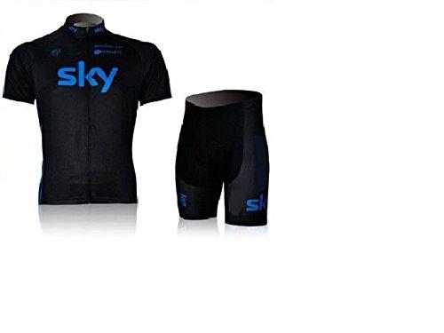 2012 sky black jersey short jersey+cycling shorts