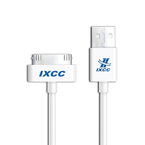 iXCC 10ft EXTRA LONG 30 Pin to USB SYNC and Charge Cable Cord for Apple iPhone 4/4s, iPod 1-6 Gen, iPod 1-4 Gen, iPad 1-3 Gen (Cord 4s Apple)