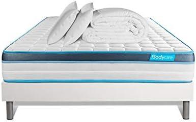 Pack 160 x 200 colchón Bodyfit + somier Kit Blanco + edredón 240 x ...