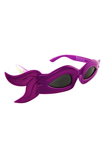Sunstaches Officially Licensed TMNT bandana Glasses, Purple (80s Guys Costume)
