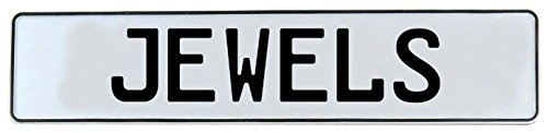 (Vintage Parts 667810 Wall Art (Jewels White Stamped Aluminum Street Sign Mancave))