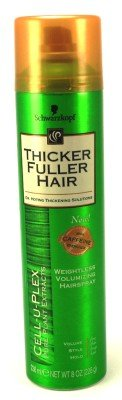 Thicker Fuller Hair Weightless Volume Hairspray 8 oz. Aero (3-Pack) with Free Nail File