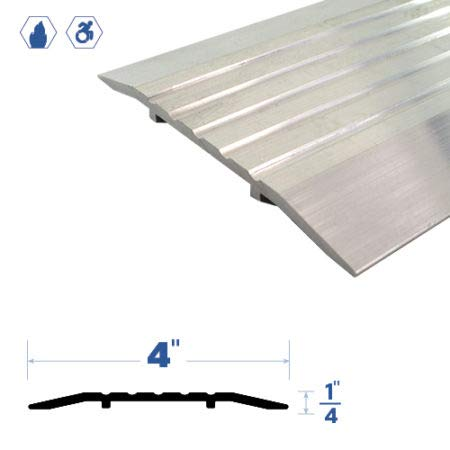 Fire Rated/ADA Approved/Mill Aluminum Door Threshold/Saddle (3445MA), FH (Flathead) Screw #10 x 1/2'' Supplied, (72