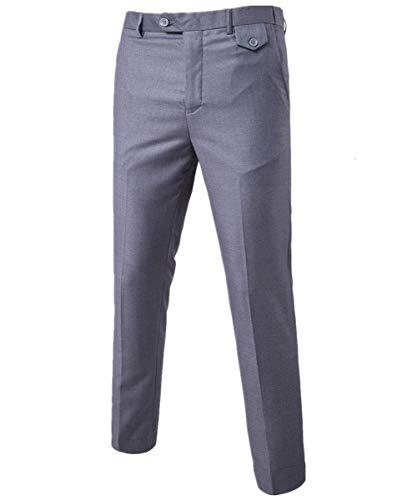 Occasione Smoking Button Ansima Fashion 1 Solidi Laterali Formale Corti Uomini Dello Abiti I Comode Taglie Tasche Grau Pantaloni Colori Hx ZvxqI0wZ