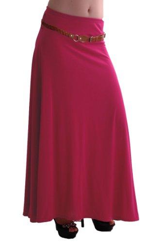 Jupe Longue Jersey Romina Fuschia Robe vase Gitan Belted EyeCatch Aux Dames Maxi Femmes dIXxq7HwP