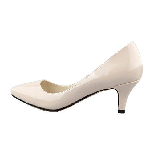 EKS - Zapatos de Tacón Mujer Naranja - Apricot-Lackleder