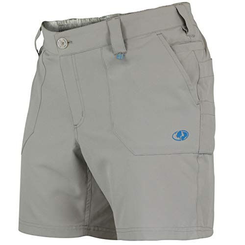 Mossy Oak Women's All Outdoor Flex Short, Cool Gray, Small ()