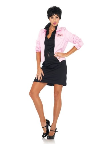 [Leg Avenue Grease Women's Pink Ladies Jacket, Pink, Small] (Pink Lady Grease Costumes)