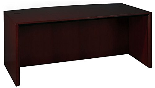 - Mayline Corsica Series Bow Front Desk,