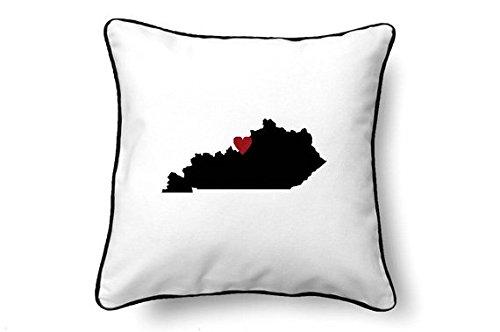onepicebest Kentucky Pillow - Kentucky Gift - Kentucky Map - KY State Map 18