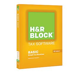 HR Block(R) Tax Software 15 Basic, For PC/Mac, 1-Year Subscription, Traditional Disc