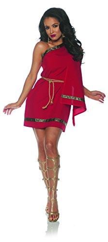 Underwraps Women's Classic Greek Toga Costume-Red, Medium -