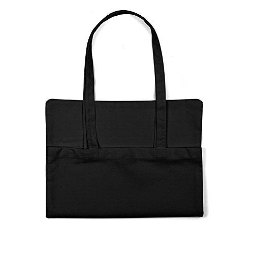 "Bolsa de tela ""Bullet For My Valentine"" - tote bag shopping bag 100% algodón LaMAGLIERIA, Negro"