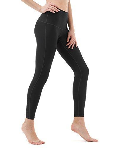 TM-FYP42-BLK_Large Tesla Yoga Pants High-Waist Tummy Control w Hidden Pocket FYP42